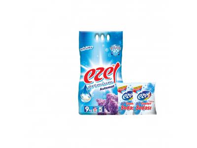 Ezel Premium Beyazlar İçin Toz Çamaşır Deterjanı 9 KG 2 Adet Soda