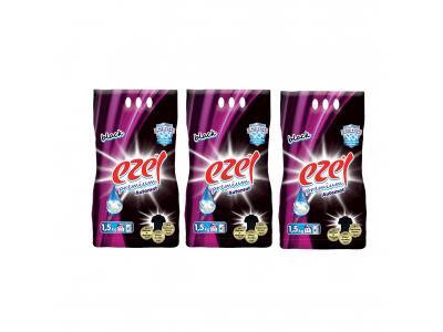 Ezel Black Toz Çamaşır Deterjanı 3 adet 1.5 KG