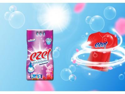 Ezel Renkliler İçin Toz Çamaşır Deterjanı 9 KG (Sodasız)